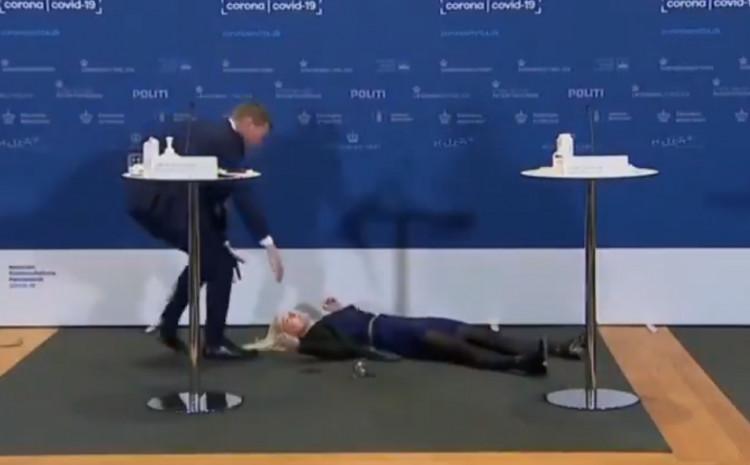 Tanja Eriksen, predstavnica danske Agencije za lijekove pala u nesvijest