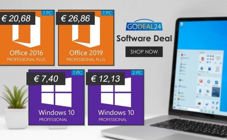 Iskoristite niske cijene! Windows 10 samo 7.4 EUR, 62% popusta na Office!