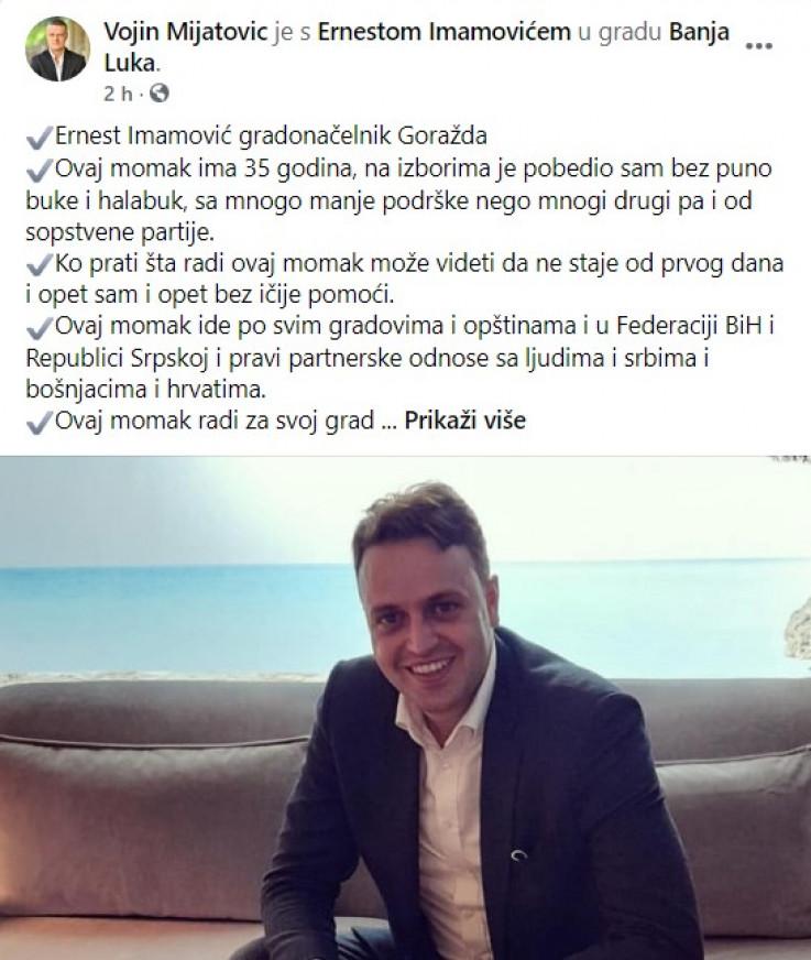 Vojin Mijatović oglasio se na Twitteru