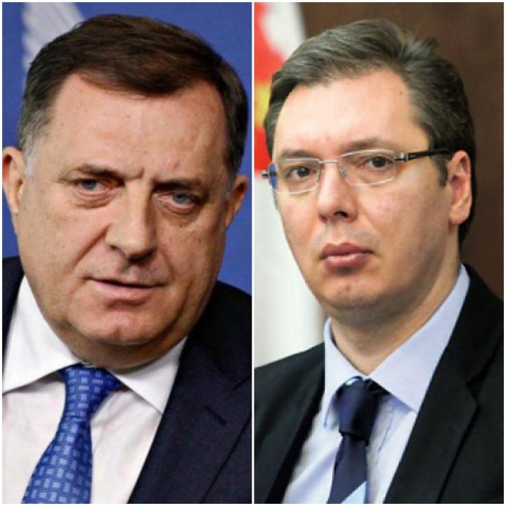 redsjedavajući Predsjedništva BiH Milorad Dodik i predsjednik Srbije Aleksandar Vučić