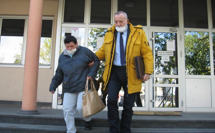 Radinka Tomić s advokatom Duškom Tomićem
