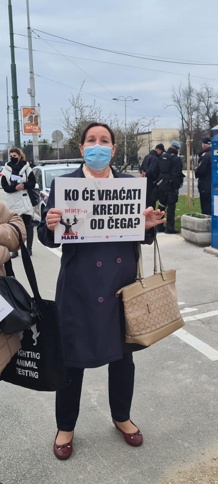 Jedna od poruka s protesta