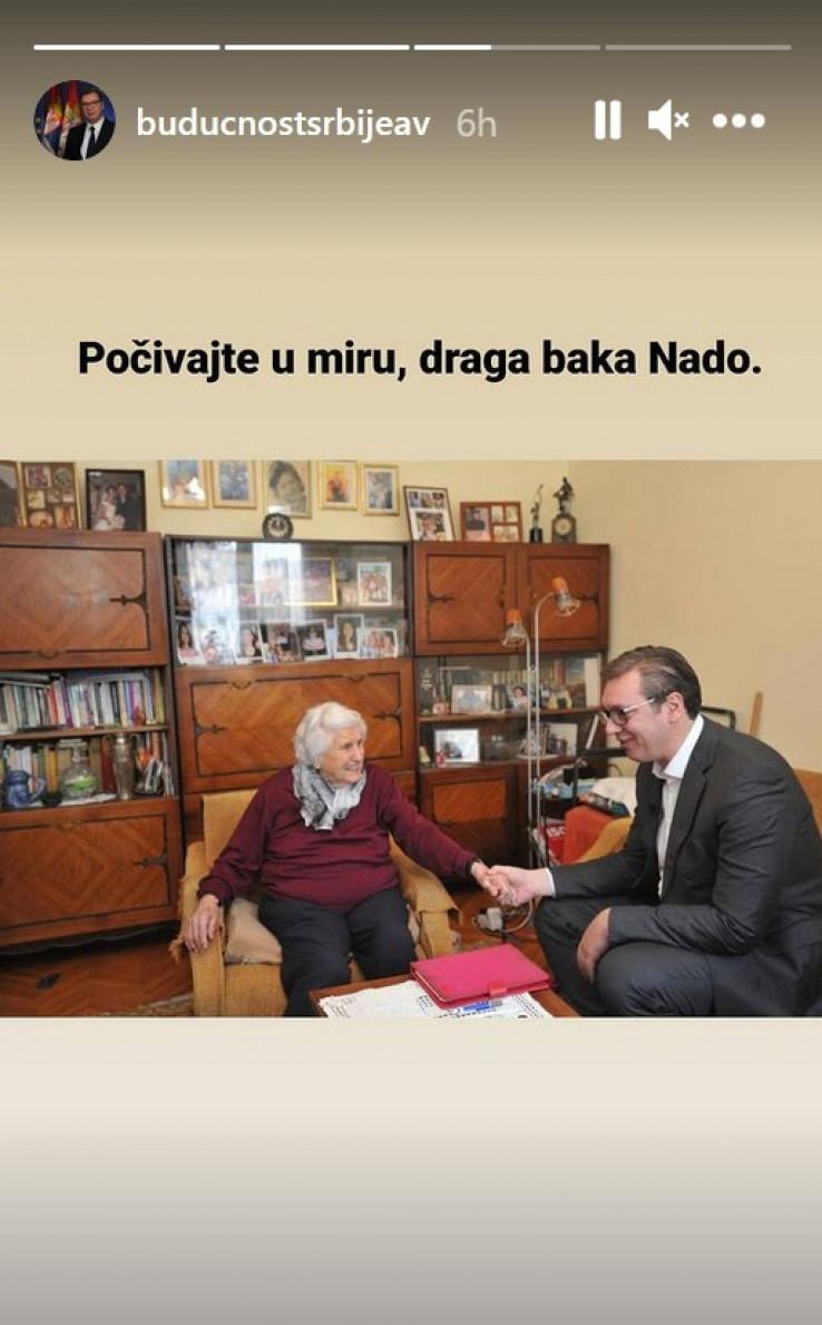 Prilikom Vučićeve posjete