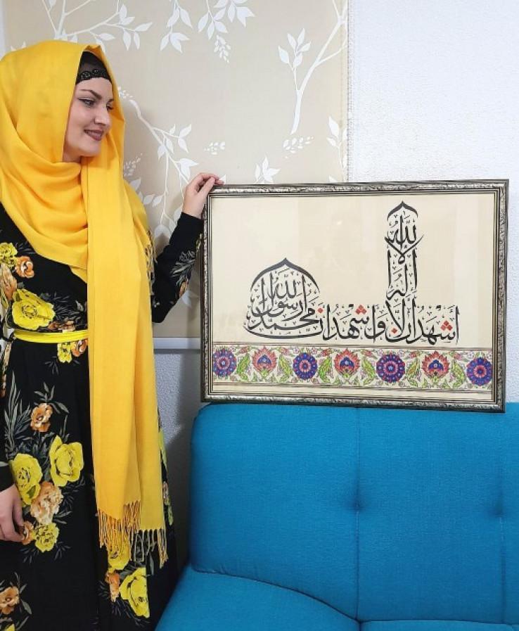 Sa jednom od svojih kaligrafija