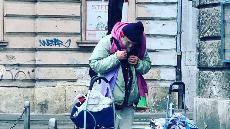 Fotografija beskućnika iz Zagreba