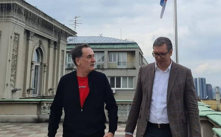 Senad Hadžifejzović i Aleksandar Vučić