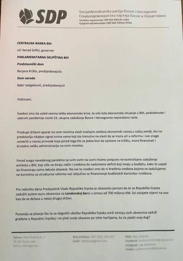 Pismo Vojina Mijatovića