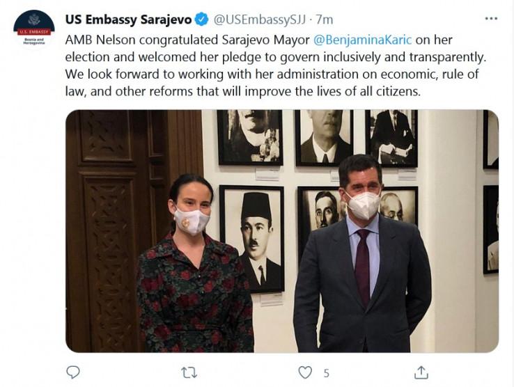 Objava Američke ambasade