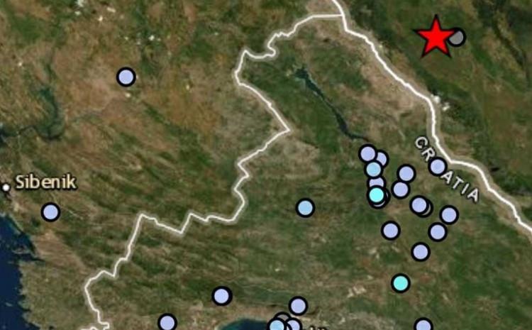 Zemljotres u Hrvatskoj sa epicentrom u BiH