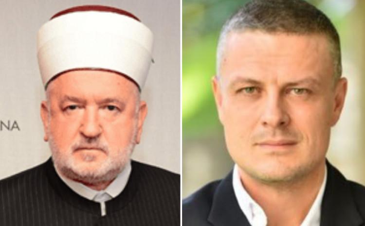 Mustafa ef. Cerić i Vojin Mijatović
