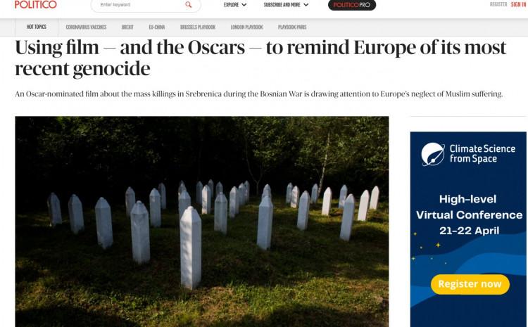 """Ugledni časopis Politiko o filmu """"Quo Vadis, Aida?"""" uoči dodjele Oskara"""
