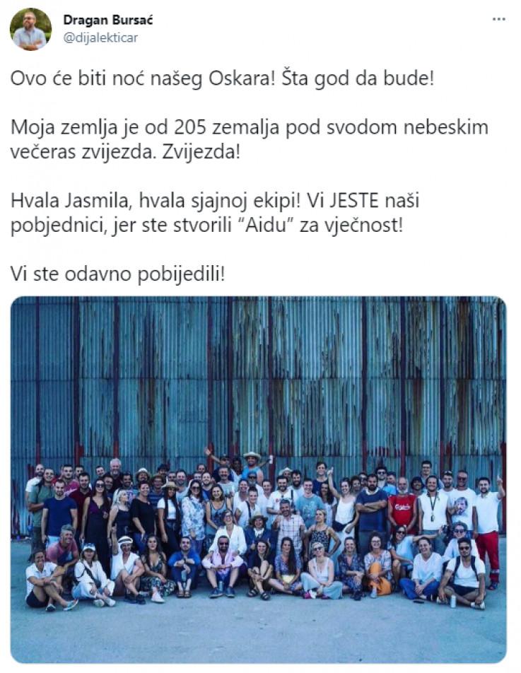 Objava Dragana Bursaća na Twitteru