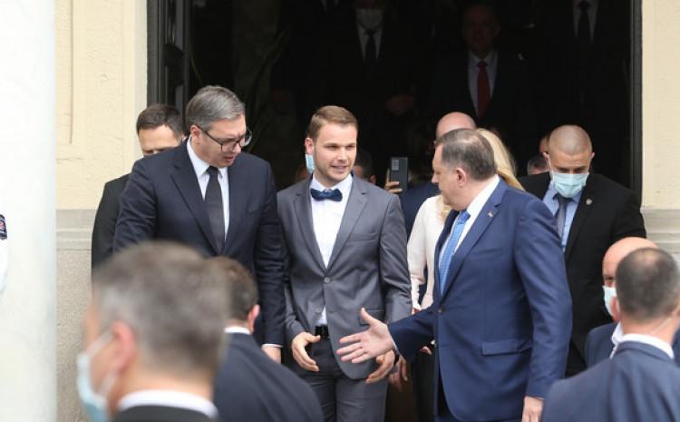 Vučić, Stanivuković i Dodik