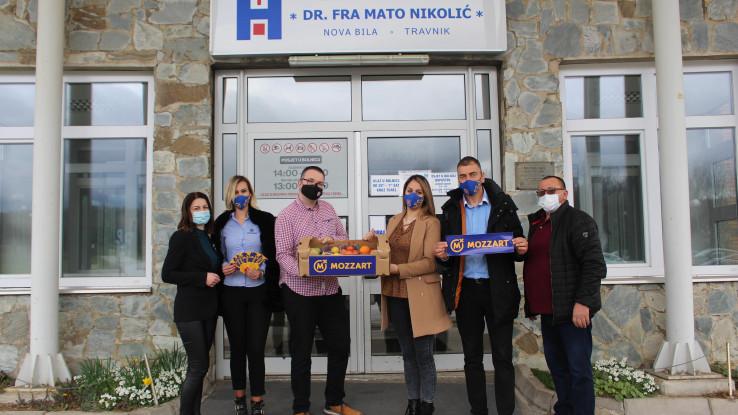 Mozzart podržao medicinare u Novoj Biloj- pomoć u borbi za ozdravljenje najtežih pacijenata