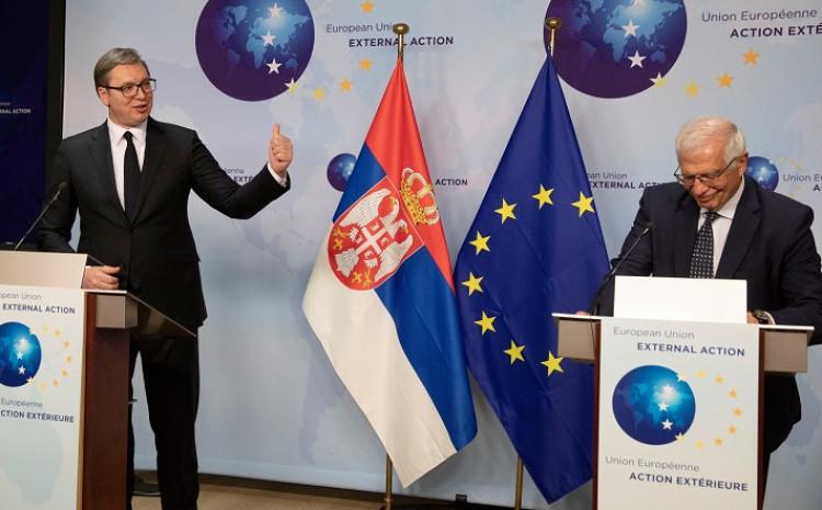 Vučić i Borelj u Briselu
