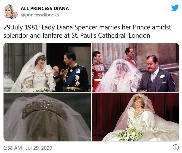 Prilikom vjenčanja Dajane i Čarlsa