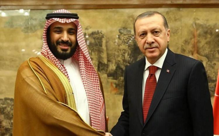 Saudijski princ Mohammed bin Salman s predsjednikom Turske Erdoanom