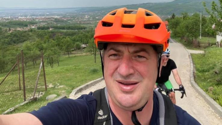 Borenovič uživao na biciklu