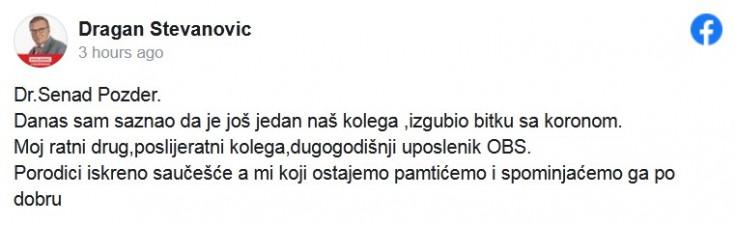 Objava doktora Stevanovića