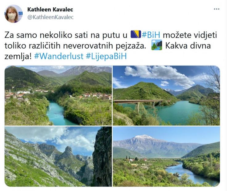 Objava Kavalek na Twitteru