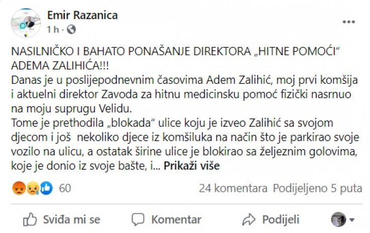 Objava Emira Ražanice