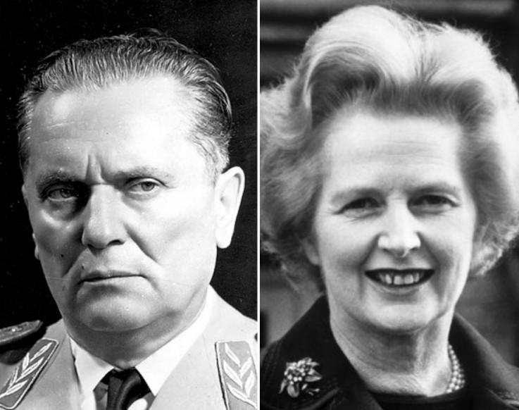 Josip Broz Tito i  Margaret Tačer (Margaret Thatcher)