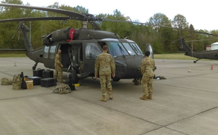 Before the start of the exercise, an increased number of helicopter flights is expected