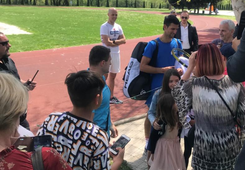 Đoković tokom druženja s fanovima