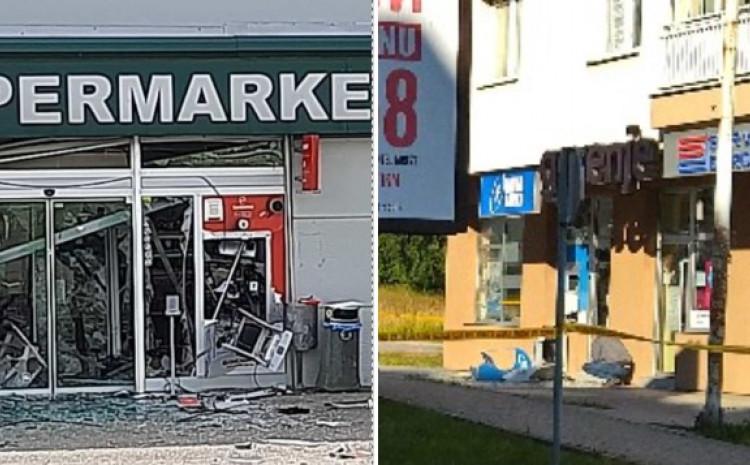Razneseni bankomati u Modriči i na Palama
