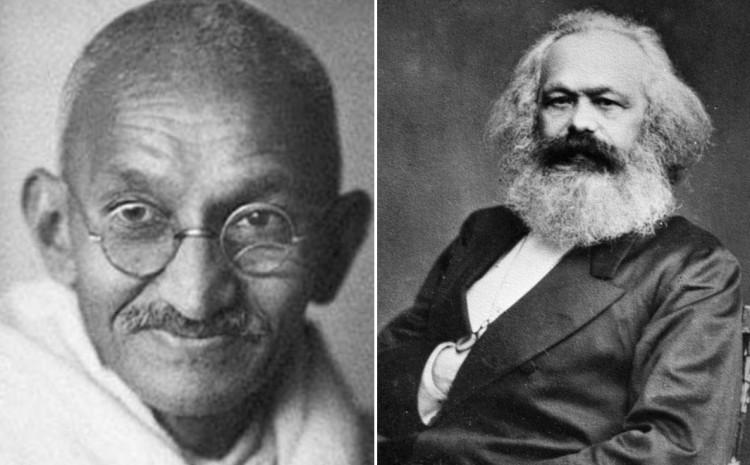 Mahatma Gandi i Karl Marks