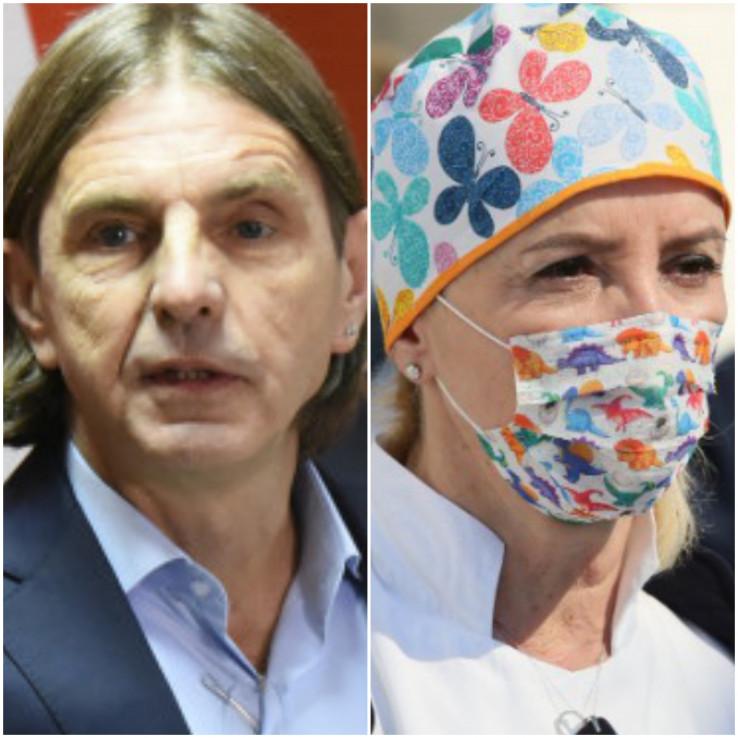 Predsjednik Naše stranke Predrag Kojović i direktorica KCUS-a Sebija Izetbegović