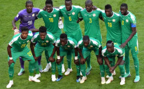 Senegal pose before playing Colombia at the 2018 World Cup in Russia