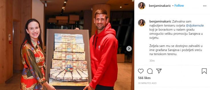 Objava Benjamine Karić na Instagramu