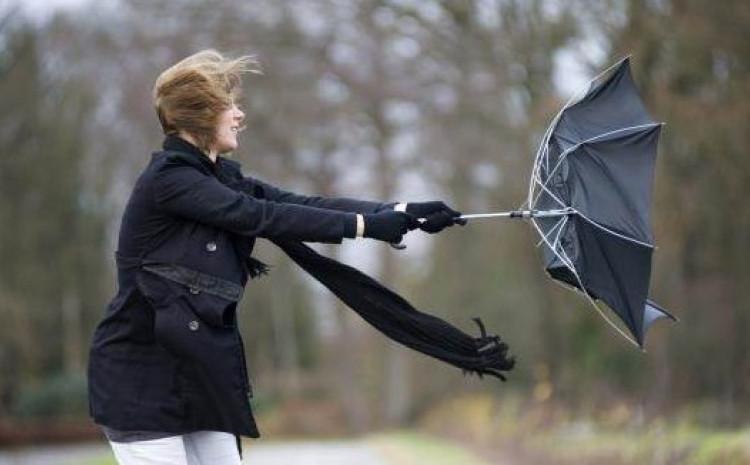 Očekuje se da će vjetar dostići više od 40 kilometara na sat.