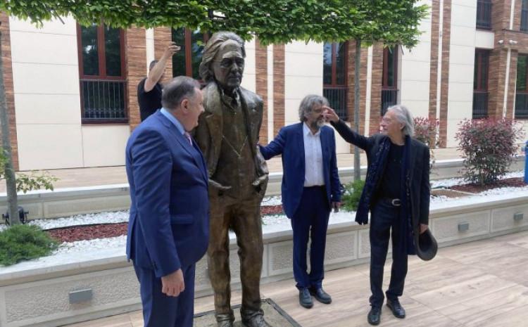 Milorad Dodik, Emir Kusturica i Peter Handke jučer u Banjoj Luci