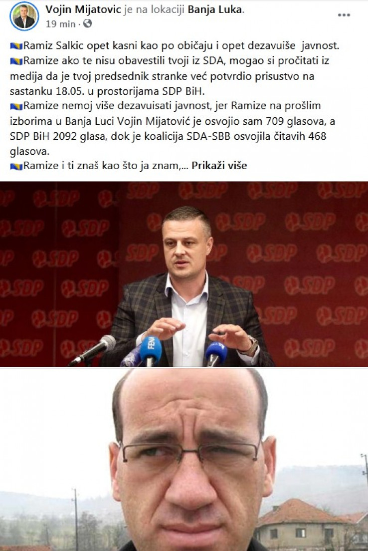 Faksimil Mijatovićeve objave