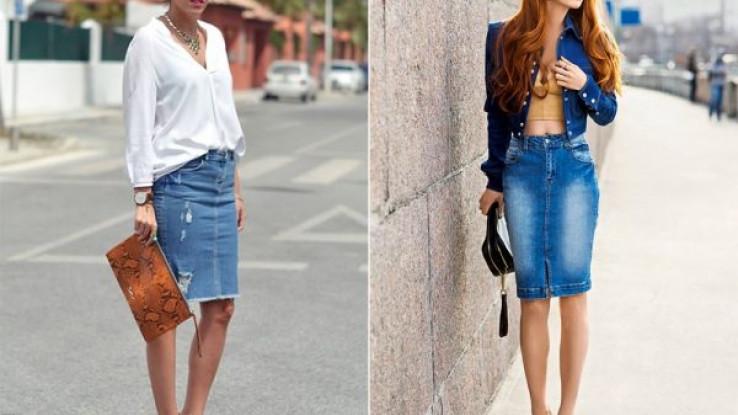 Džins suknja jednostavno se kombinuje