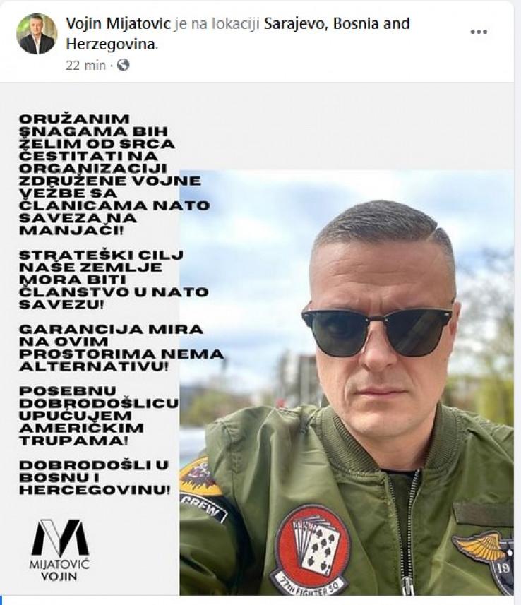 Status koji je objavio Mijatović