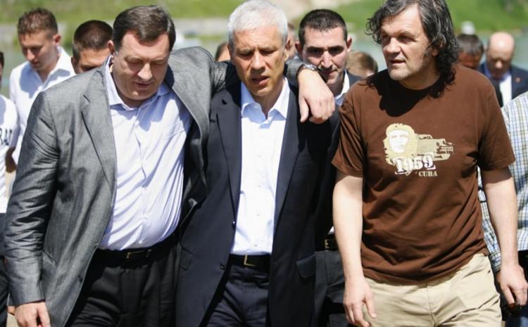 Milorad Dodik, Boris Tadić i Emir Kusturica