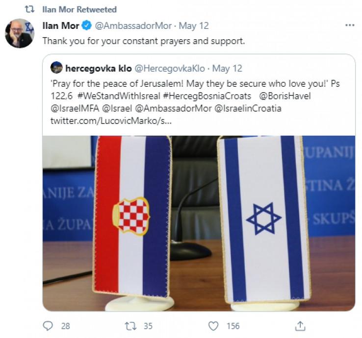 Objava Ilana Mora na Twitteru