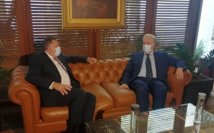 Dodik i Krivokapić u Atini