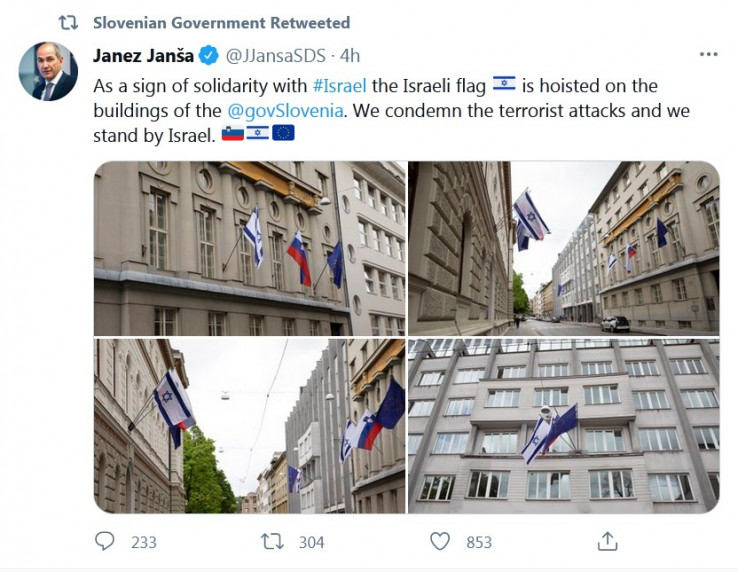 Slovenska vlada podržava Izrael