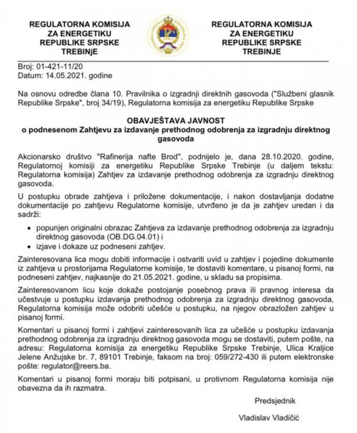 Komisija tek jučer obavijestila javnost