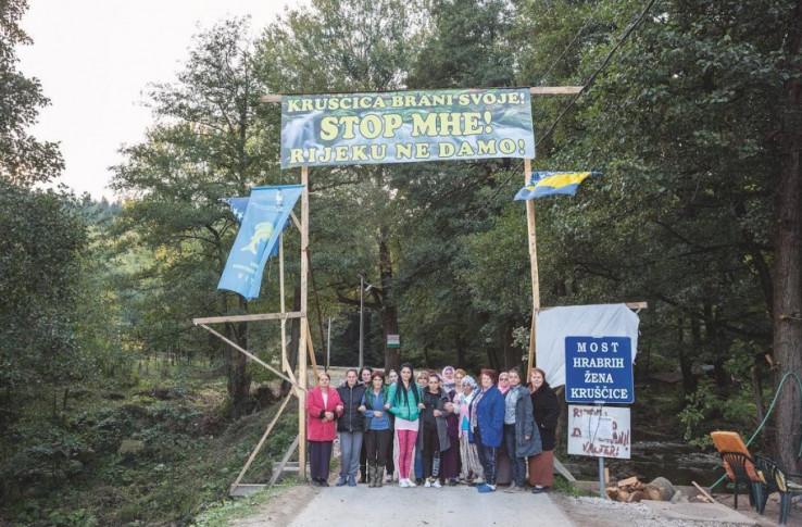 Žene Kruščice: Više od 500 dana žene su se organizirale i danonoćno dežurale kako bi spriječile izgradnju mini hidrocentrala na voljenoj rijeci