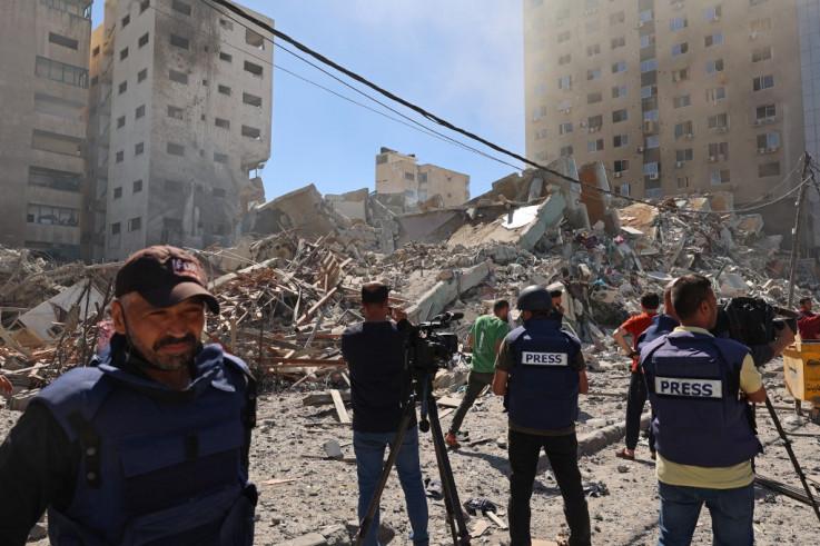 Ostaci jedne od zgrada koju su Izraelci srušili
