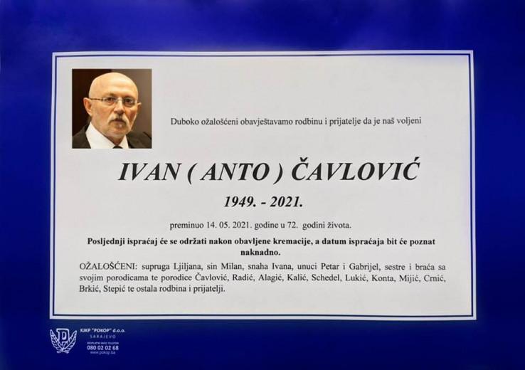 Smrtnovnica Ivana Čavlovića