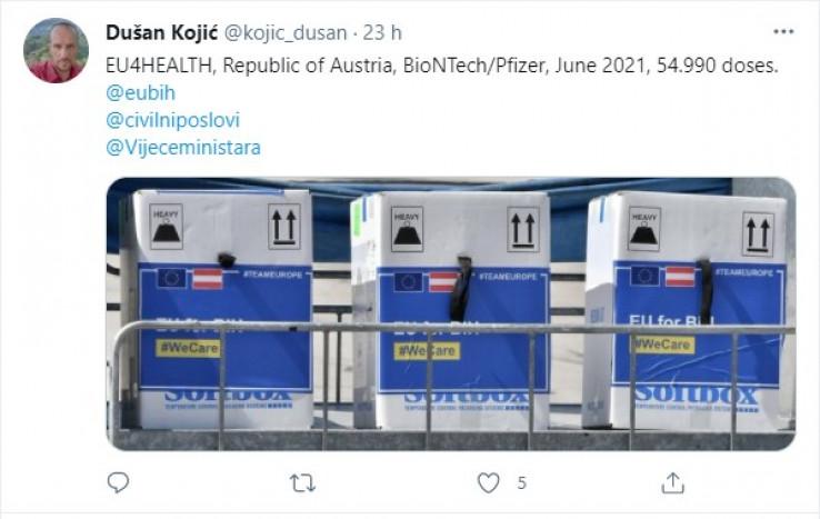 Kojić vijest potvrdio na Twitteru