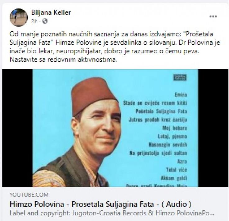 Facebook komentar Biljane Srbljanović