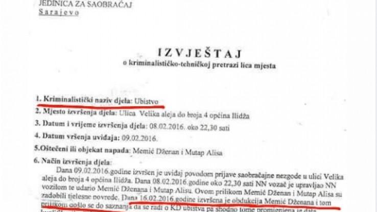 """Faksimil objave na grupi """"Pravda za Dženana Memića"""""""