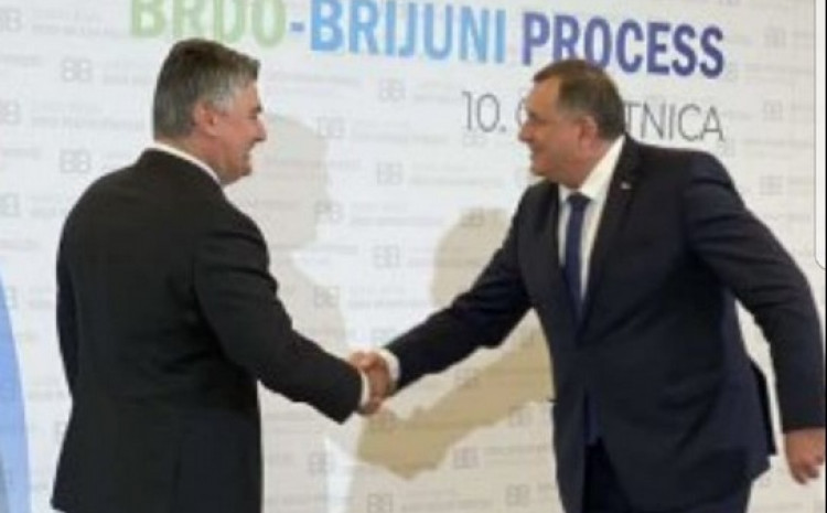Srdačan pozdrav Dodika i Milanovića